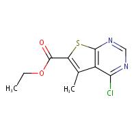 ethyl 4-chloro-5-methylthieno[2,3-d]pyrimidine-6-carboxylate
