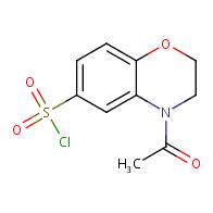 4-acetyl-3,4-dihydro-2H-1,4-benzoxazine-6-sulfonyl chloride