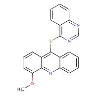 4-Methoxy-9-(quinazolin-4-ylthio)acridine