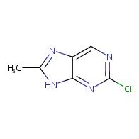 2-chloro-8-methyl-9H-purine