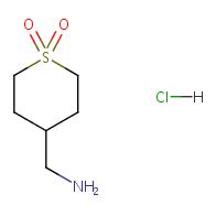[(1, 1-dioxotetrahydro-2h-thiopyran-4-yl)methyl]amine hydrochloride