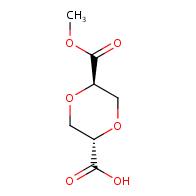 1,4-dioxane-2,5-dicarboxylic acid, 2-methyl ester, (2r,5s)-rel-