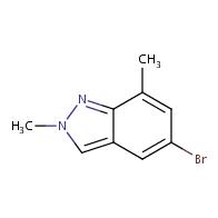 5-bromo-2,7-dimethyl-2H-indazole