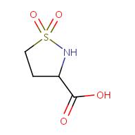 isothiazolidine-3-carboxylic acid 1,1-dioxide