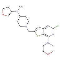 1-((2-Chloro-4-morpholinothieno[3,2-d]pyrimidin-6-yl)methyl)-N-methyl-N-(tetrahydrofuran-3-yl)piperidin-4-amine