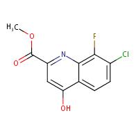 Methyl 7-chloro-8-fluoro-4-hydroxyquinoline-2-carboxylate