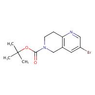 tert-butyl 3-bromo-5,6,7,8-tetrahydro-1,6-naphthyridine-6-carboxylate