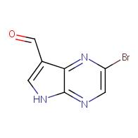 2-bromo-5H-pyrrolo[2,3-b]pyrazine-7-carbaldehyde