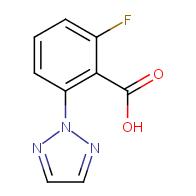2-fluoro-6-(2H-1,2,3-triazol-2-yl)benzoic acid