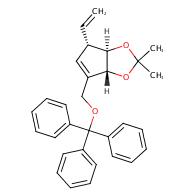 (3AR,4S,6aR)-2,2-Dimethyl-6-((trityloxy)methyl)-4-vinyl-4,6a-dihydro-3aH-cyclopenta[d][1,3]dioxole