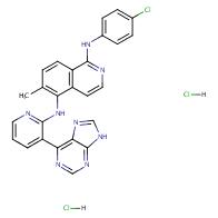 1,5-isoquinolinediamine, n1-(4-chlorophenyl)-6-methyl-n5-[3-(9h-purin-6-yl)-2-pyridinyl]-, hydrochloride (1:2)