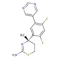 (S)-4-(2,4-Difluoro-5-(pyrimidin-5-yl)phenyl)-4-methyl-5,6-dihydro-4H-1,3-thiazin-2-amine