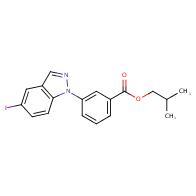 isobutyl 3-(5-iodo-1H-indazol-1-yl)benzoate