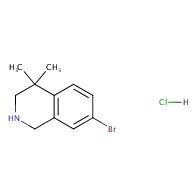7-bromo-4,4-dimethyl-1,2,3,4-tetrahydroisoquinoline hydrochloride