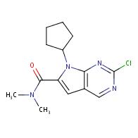 2-chloro-7-cyclopentyl-N,N-dimethyl-7H-pyrrolo[2,3-d]pyrimidine-6-carboxamide