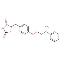5-[4-[2-[Methyl(2-pyridyl)amino]ethoxy]benzyl]thiazolidine-2,4-dione