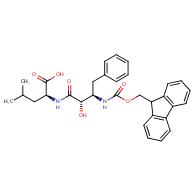 L-Leucine, N-[(2S,3R)-3-[[(9H-fluoren-9-ylmethoxy)carbonyl]amino]-2-hydroxy-1-oxo-4-phenylbutyl]-