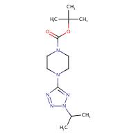 tert-butyl 4-(2-isopropyl-2H-tetrazol-5-yl)piperazine-1-carboxylate