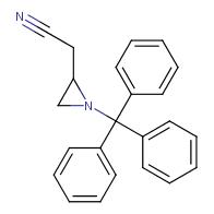 2-(1-tritylaziridin-2-yl)acetonitrile