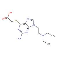 2-((2-Amino-9-(2-(diethylamino)ethyl)-9H-purin-6- yl)thio)acetic acid
