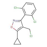 4-(chloromethyl)-5-cyclopropyl-3-(2,6-dichlorophenyl)-1,2-oxazole