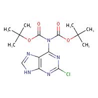 tert-butyl N-[(tert-butoxy)carbonyl]-N-(2-chloro-9H-purin-6-yl)carbamate