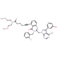 5-HexynaMide, 6-[2-[[4-aMino-3-(3-hydroxyphenyl)-1H-pyrazolo[3,4-d]pyriMidin-1-yl]Methyl]-3-[(2-chlorophenyl)Methyl]-3,4-dihydro-4-oxo-5-quinazolinyl]-N,N-bis(2-Methoxyethyl)-