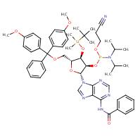 N-{9-[(2R,3R,4R,5R)-5-{[bis(4-methoxyphenyl)(phenyl)methoxy]methyl}-3-({[bis(propan-2-yl)amino](2-cyanoethoxy)phosphanyl}oxy)-4-[(tert-butyldimethylsilyl)oxy]oxolan-2-yl]-9H-purin-6-yl}benzamide