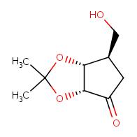 (3aR,6R,6aR)-6-(hydroxymethyl)-2,2-dimethyl-hexahydrocyclopenta[d][1,3]dioxol-4-one