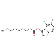 Nonanoic acid,5-bromo-4-chloro-1H-indol-3-yl ester