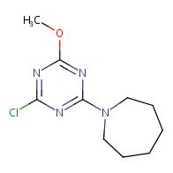 1-(4-Chloro-6-methoxy-1,3,5-triazin-2-yl)azepane