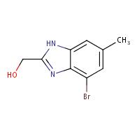 4-Bromo-2-(hydroxymethyl)-6-methylbenzimidazole
