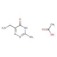 3-amino-6-(aminomethyl)-1,2,4-triazin-5(4H)-one acetate