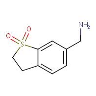 (1,1-dioxo-2,3-dihydro-1-benzothiophen-6-yl)methanamine