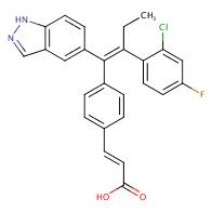 (E)-3-(4-((E)-2-(2-Chloro-4-fluorophenyl)-1-(1H-indazol-5-yl)but-1-en-1-yl)phenyl)acrylic acid