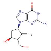 2-amino-9-((1R,3R,4S)-4-hydroxy-3-(hydroxymethyl)-2- methylenecyclopentyl)-1,9-dihydro-6H-purin-6-one