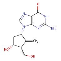 2-amino-9-((1S,3R,4R)-4-hydroxy-3-(hydroxymethyl)-2- methylenecyclopentyl)-1,9-dihydro-6H-purin-6-one