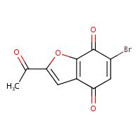 2-acetyl-6-bromo-benzofuran-4,7-dione