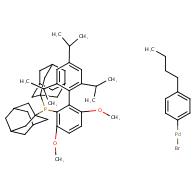 Bromo(4-butylphenyl)[2-(di-1-adamantylphosphino)-3,6-dimethoxy-2
