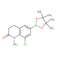 8-chloro-1-methyl-6-(4,4,5,5-tetramethyl-[1,3,2]dioxaborolan-2-yl)-3,4-dihydro-1h-quinolin-2-one