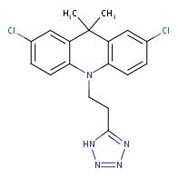 2,7-Dichloro-9,9-dimethyl-10-[2-(1H-tetrazol-5-yl)-ethyl]-9,10-dihydro-acridine