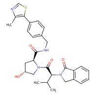 (2S,4R)-4-Hydroxy-1-((S)-3-methyl-2-(1-oxoisoindolin-2- yl)butanoyl)-N-(4-(4-methylthiazol-5- yl)benzyl)pyrrolidine-2-carboxamide