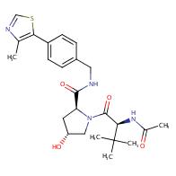 (2S,4R)-1-[(2S)-2-acetamido-3,3-dimethylbutanoyl]-4-hydroxy-N-[[4-(4-methyl-1,3-thiazol-5-yl)phenyl]methyl]pyrrolidine-2-carboxamide