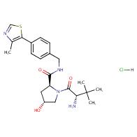 (2S,4R)-1-[(2S)-2-amino-3,3-dimethylbutanoyl]-4-hydroxy-N-[[4-(4-methyl-1,3-thiazol-5-yl)phenyl]methyl]pyrrolidine-2-carboxamide;hydrochloride
