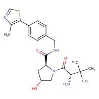 (2S,4R)-1-[(2S)-2-amino-3,3-dimethylbutanoyl]-4-hydroxy-N-[[4-(4-methyl-1,3-thiazol-5-yl)phenyl]methyl]pyrrolidine-2-carboxamide