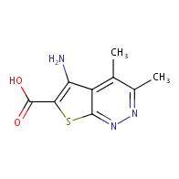 5-amino-3,4-dimethylthieno[2,3-c]pyridazine-6-carboxylic acid