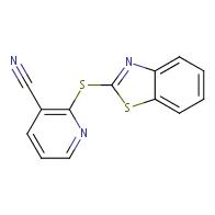 2-(1,3-benzothiazol-2-ylthio)nicotinonitrile