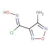 (Z)-4-amino-N-hydroxy-1,2,5-oxadiazole-3-carbonimidoyl chloride