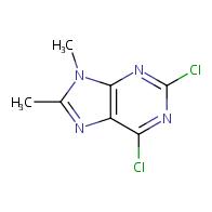 9h-purine, 2,6-dichloro-8,9-dimethyl-
