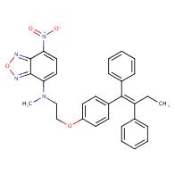 N-[2-[4-[(Z)-1,2-diphenylbut-1-enyl]phenoxy]ethyl]-N-methyl-4-nitro-2,1,3-benzoxadiazol-7-amine